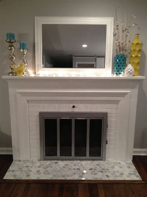 tiled fireplace hearth retro ranch reno operation hearth re tile grouted