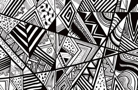 shape patterns black and white black white abstract pattern vector line drawing graphic