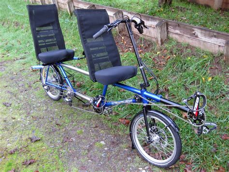 packable bike jerome and donna s packable recumbent tandem english cycles