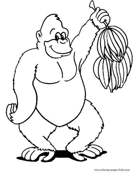 gorilla coloring coloring pages