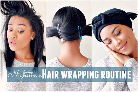 How To Wrap Hair For Bed nighttime hair wrapping routine