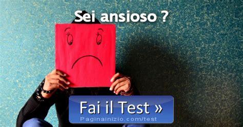 pagina inizio test test sei ansioso