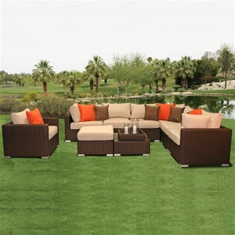 wicker sectional patio furniture lafayette wicker sectional by leisure select patio furniture