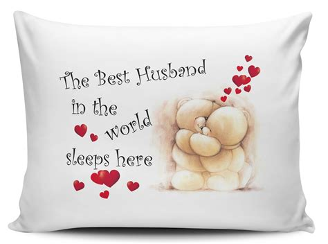 The Husband Pillow by The Best Husband In The World Sleeps Here Pillow