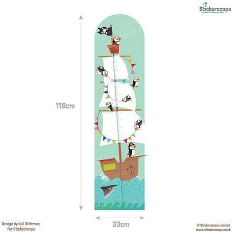height chart wall stickers pirate height chart wall sticker height charts