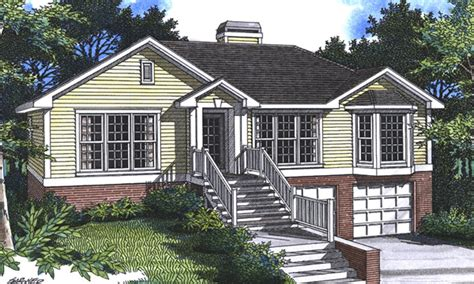 drive under garage house plans sundale split level home plan 052d 0008 house plans and more