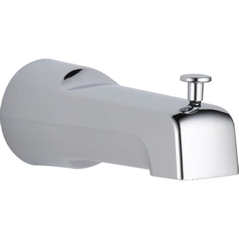 long bathtub spout delta modern 6 7 in long pull up diverter tub spout in