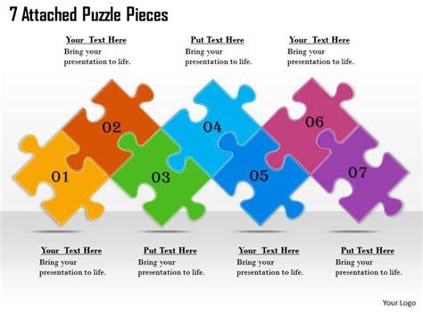 2613 Business Ppt Diagram 7 Attached Puzzle Pieces Powerpoint Template Powerpoint Slide Powerpoint Puzzle Pieces Template