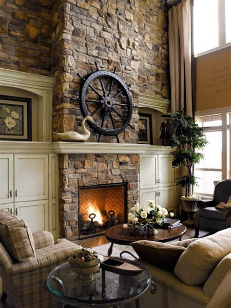 Stone Fireplace Design | 25 stone fireplace ideas for a cozy nature inspired home