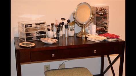 Makeup Storage Desk by My Updated Vanity Makeup Storage Collection New Desk