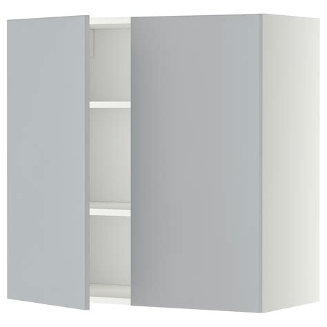 2 door cabinet with shelves metod wall cabinet with shelves 2 doors white veddinge