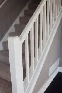 white banister rail simple white staircase housey home