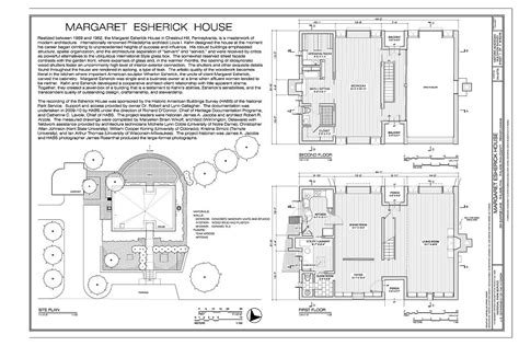 esherick house floor plan title sheet and floor plans margaret esherick house 204 sunrise lane philadelphia