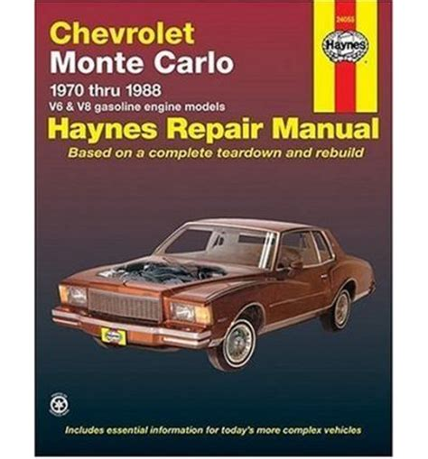 chevrolet monte carlo service repair manual download info service manuals chevrolet monte carlo 1970 88 v6 and v8 owner s workshop manual sagin workshop car manuals