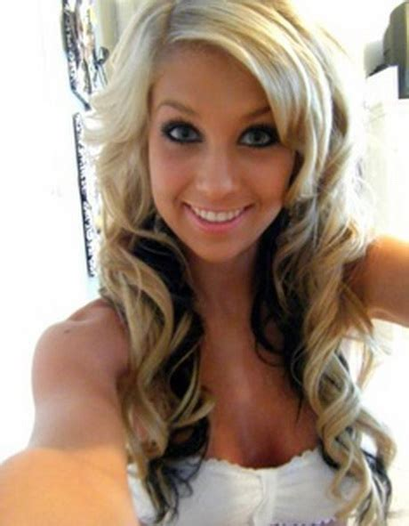 hairstyles underneathe blonde with black underneath hairstyles