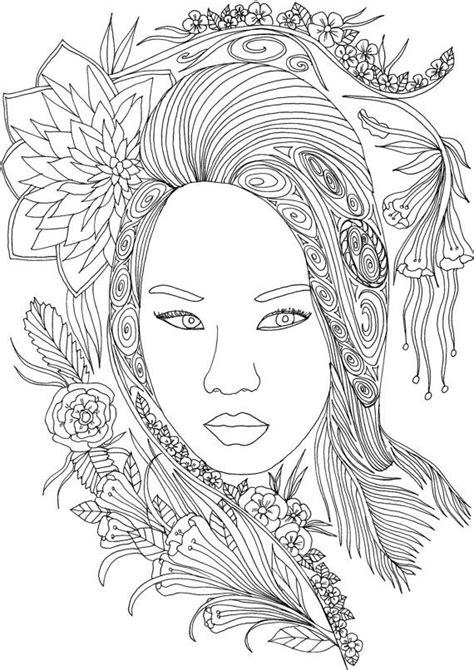coloring pages for adults faces les 414 meilleures images 224 propos de dessins visage et