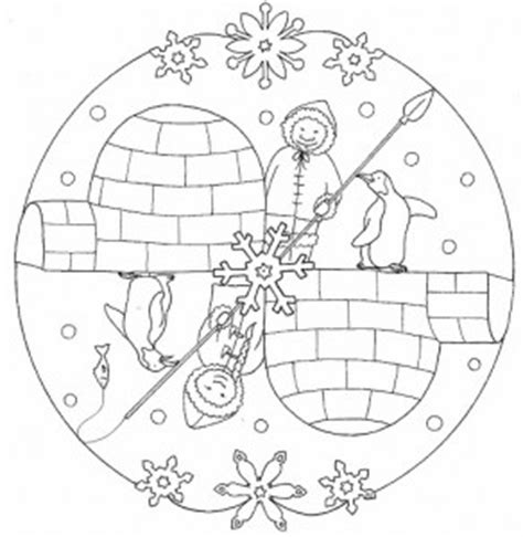 Winter mandala coloring pages for kids   Crafts and