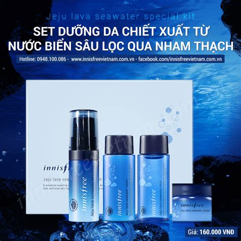 Innisfree Jeju Lava Seawater Special Kit bộ d 249 ng thử innisfree jeju lava seawater special kit