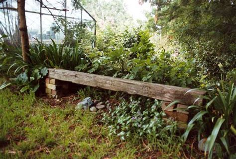 railway sleeper garden bench wattle woods