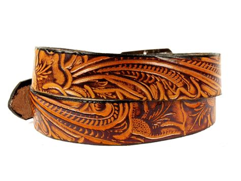 Handcrafted Western Belts - handmade leather belt quot western bloom quot marakesh leather