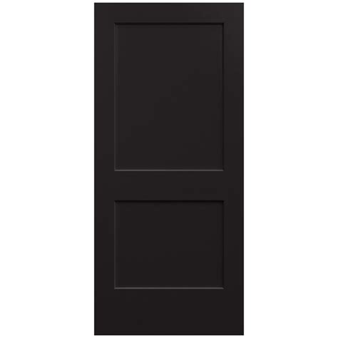 home depot solid core jeld wen 36 in x 80 in smooth 2 panel black solid molded composite interior door slab