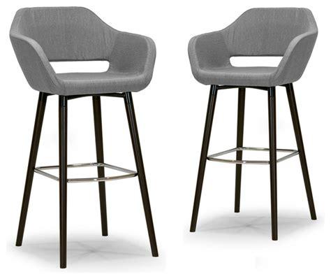 Grey Cloth Bar Stools by Adel Mid Century Retro Modern Gray Fabric Bar Stools With