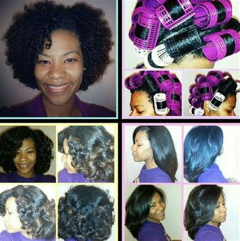 how to set different styles with rollers african american hairstyles roller sets