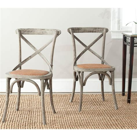 Colonial Dining Chairs Safavieh Franklin Distressed Colonial Walnut X Back Dining Chair Set Of 2 Amh9500d Set2 The