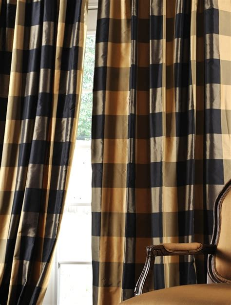 plaid silk curtains 17 best images about windows on pinterest curtain rods