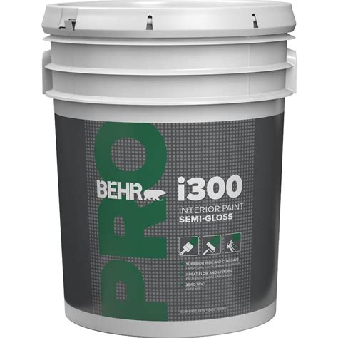 home depot 5 gallon interior paint behr pro 5 gal semi gloss interior paint pr37305