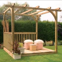 Photos Of Pergolas On Decks by Decking Kit With Pergola 2 4 X 2 4 M Decking Kits At