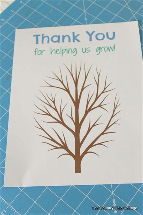 fingerprint tree card template fingerprint tree gift the country chic cottage