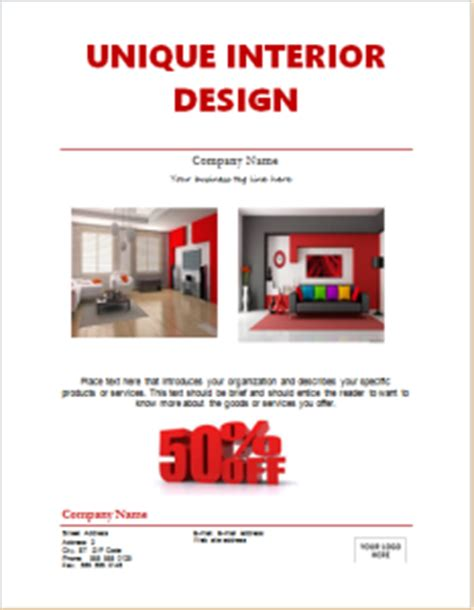 interior design advertising 10 editable business flyer templates for word document hub
