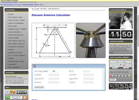 discone antenna calculator  dxzonecom software