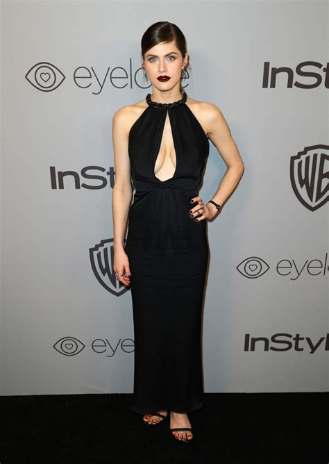In Style And Warner Bros 2007 Golden Globe After by Alexandra Daddario Instyle And Warner Bros Golden Globes