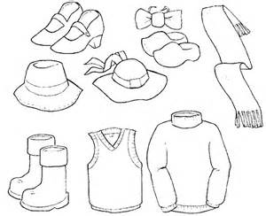 coloring cloth coloring page of winter clothes az coloring pages
