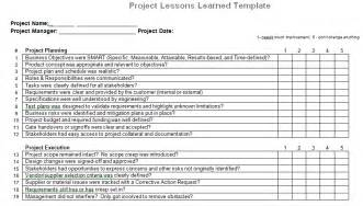 Lessons Learned Template Powerpoint by Project Management Lessons Learned Document For Microsoft Word