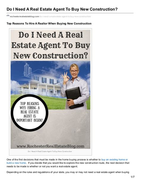 should i hire a realtor to buy a house should i hire a real estate agent to buy new construction