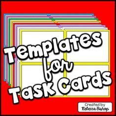 free task card template free printable page borders school printable free