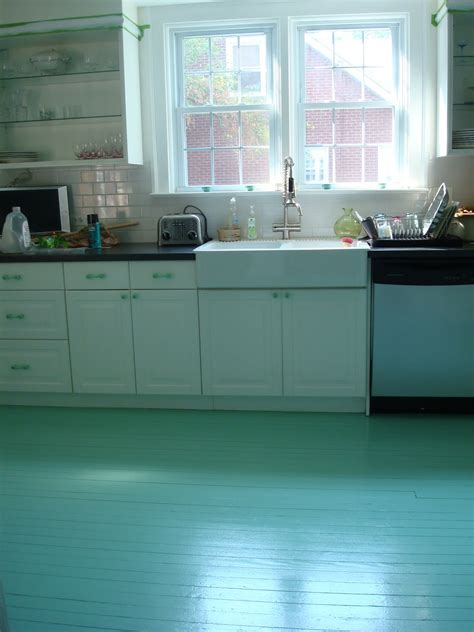 Painted Kitchen Floors | high heeled foot in the door diy painted kitchen floor