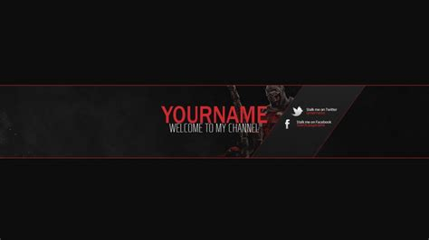 Youtube Banner Template Psd Sadamatsu Hp Banner Template Psd