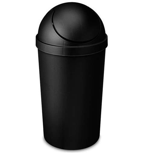swing top trash can sterilite swing top trash can 3 gallon in kitchen trash cans