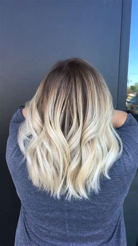 add darker roots to bleached hair blonde balayage dark roots with bleach blonde ends