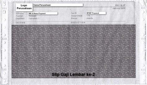 format slip gaji carbonized jual kertas slip gaji confidential carbonized