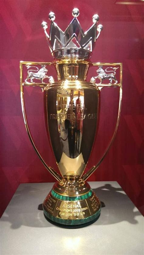 arsenal golden trophy gold epl trophy for the invincibles arsenal all things