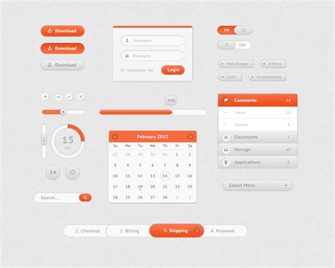 ui pattern psd free web ui kits for graphic designers freebies
