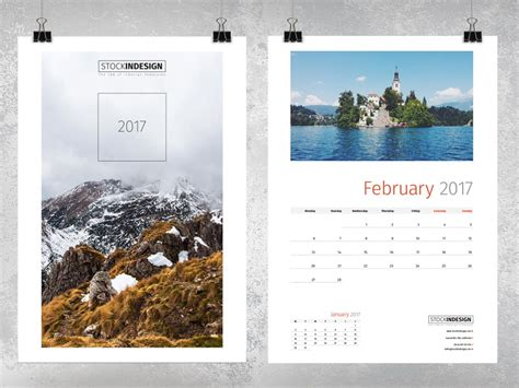 Wall Calendar 2017 Stockindesign Indesign Calendar Template 2017