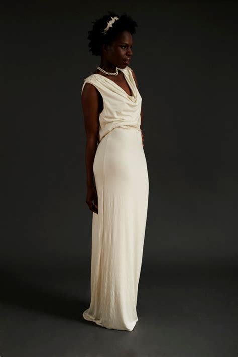 sustainable draped cowl  evening dress sewing
