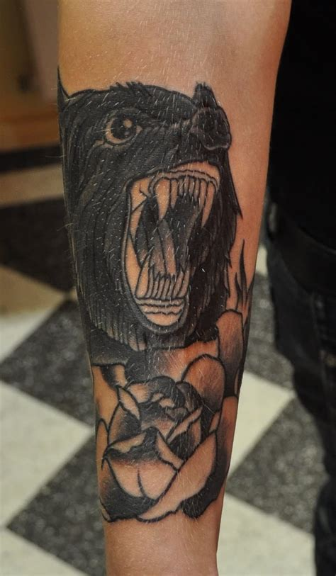black wolf tattoo black wolf design for leg