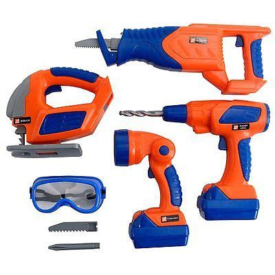 Real Power Tools 4 Mib pretend play home depot deluxe power tool set